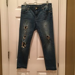 Michael Kors Izzy Cropped Skinny Jeans distressed